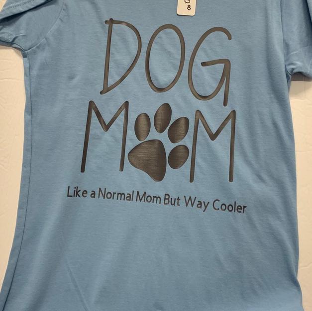 Dog Mom, Like A Normal Mom But Way Cooler - Tshirt - Light Blue L