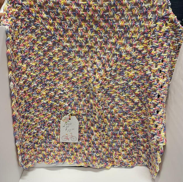 Afghan - Multicoloured (Yellow / Purple / White / Pink) - 30 x 30