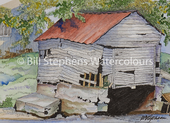 Original Watercolour Painting -Old boathouse on Whitestone Lake