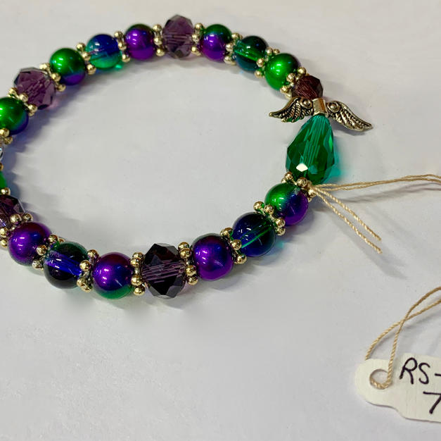 Angel Bracelet - Green / Purple / Smoky