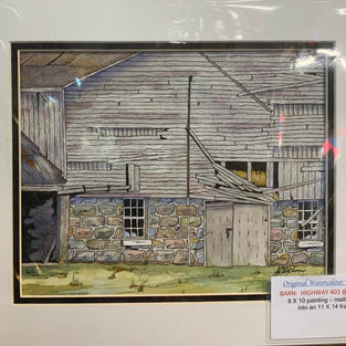 Barn at Highway 401 and Exit 216 - Original Watercolour - (11x14)