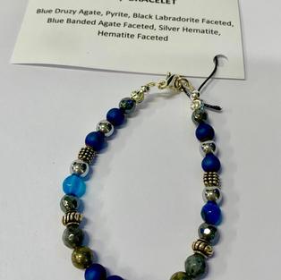 Chakra Bracelet - Blue Agate