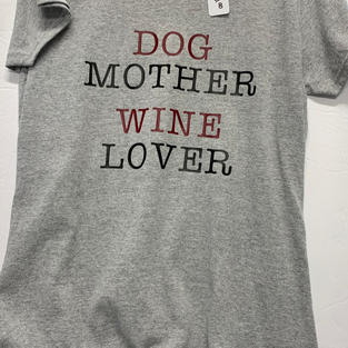 Dog Mother Wine Lover - Tshirt - Grey M