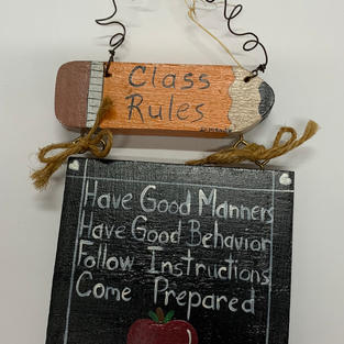Class Rules Pencil / Plaque