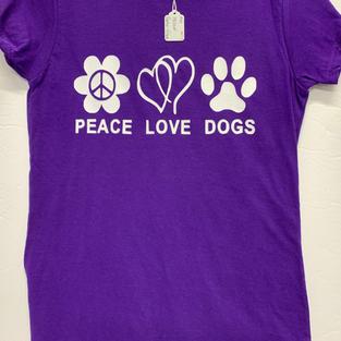 Peace Love Dogs - Tshirt - Purple M