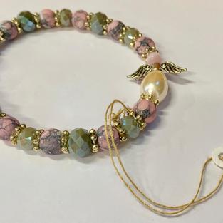 Angel Bracelet - Mottled Pink / Grey / Pink