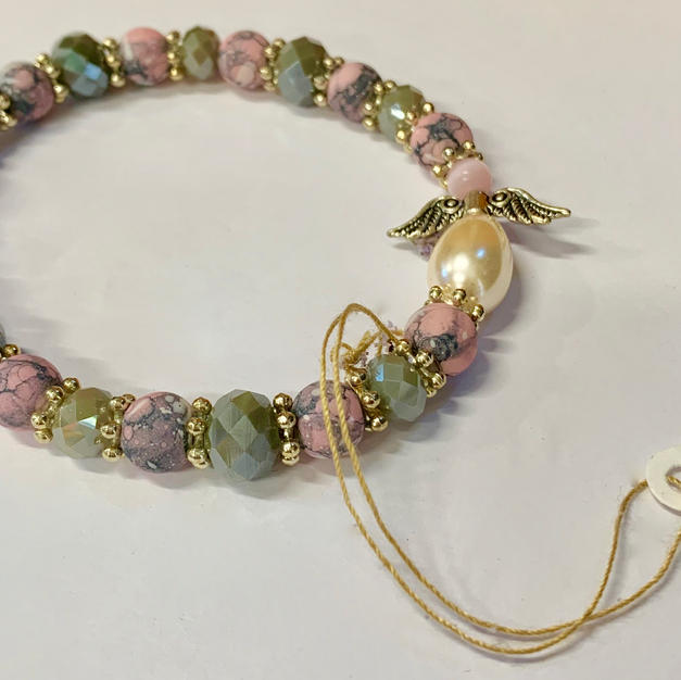 Angel Bracelet - Mottled Pink / Grey / Pink