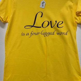 Love Is A Four-Legged Word - Tshirt - Yellow M