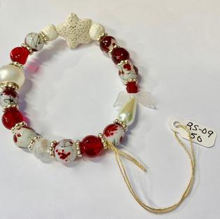 Angel Bracelet - Lava Star / Red / White