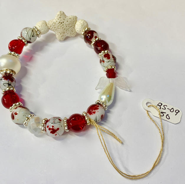Angel Bracelet - Lava Star / Red / White