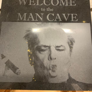 Jack Nicholson - Man Cave Sign - Laser Engraved into stone