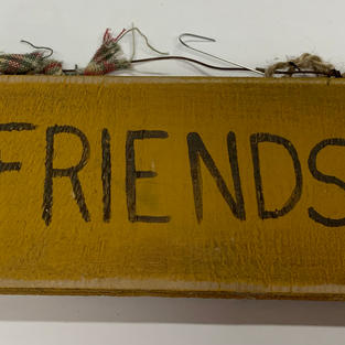 Yellow Friends Sign