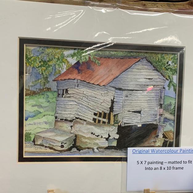 Old White Barn - Original Watercolour (8x10)