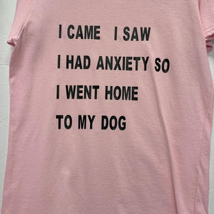 I Came, I Saw, I Had Anxiety So I Went Home To My Dog - Tshirt - Pink M