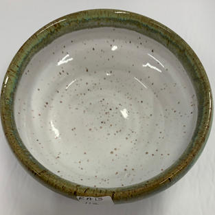 Pottery Bowl #112 - TOP VIEW