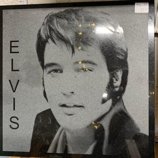 Elvis - Laser Engraved Into Stone
