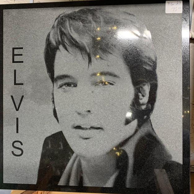 Elvis - Laser Engraved Into Stone