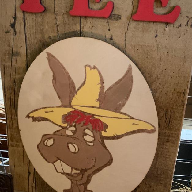 Yee Haw Donkey - Sign - 14x24