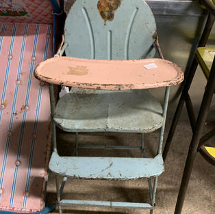 Pink & Blue Doll Chair