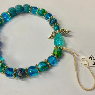 Angel Bracelet - Turquoise / Lava Beads