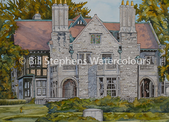 Original Watercolour - Willistead Manor - Windsor Collection