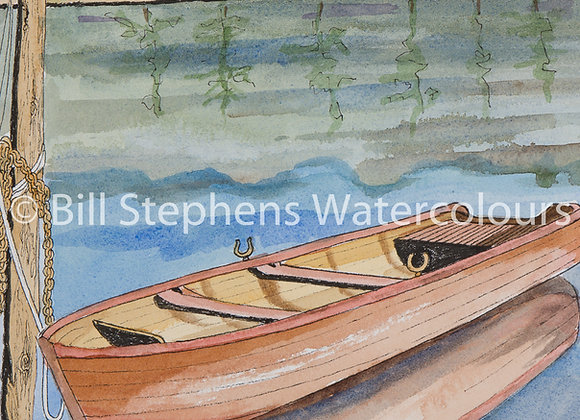 Original Watercolour Painting - Rowboat
