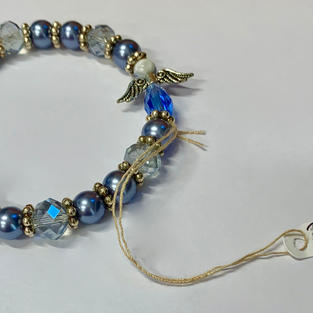 Angel Bracelet - Silver / Blue