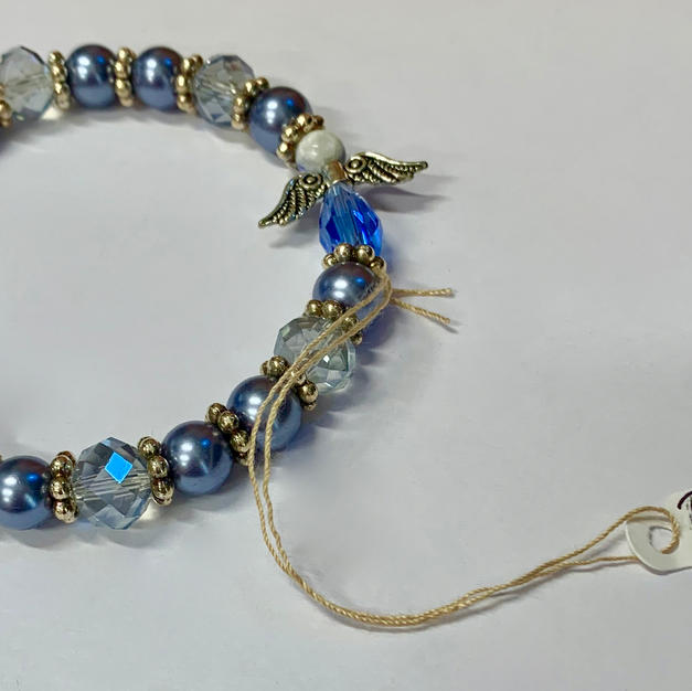 Angel Bracelet - Silver / Blue