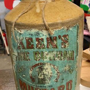 Rustic Mustard Jar