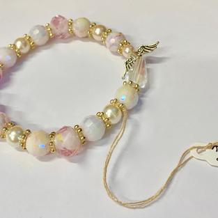 Angel Bracelet - Pink / White / Gold