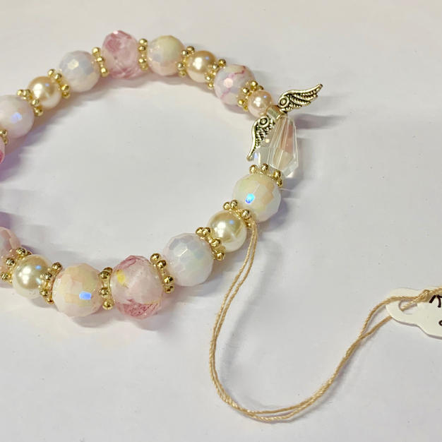 Angel Bracelet - Pink / White / Gold