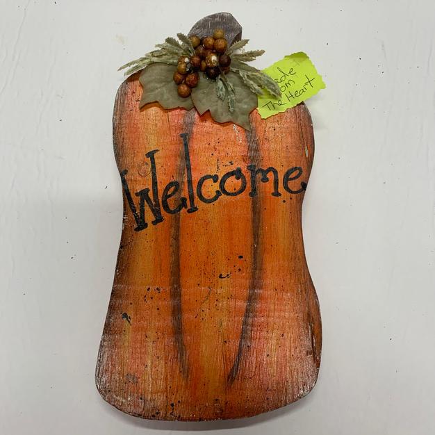 Small Welcome Pumpkin