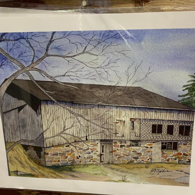 Fullarton Barn Print (11x14)