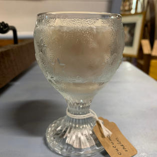 Wine Goblet - Soy Candle - 4 oz - Cucumber Melon