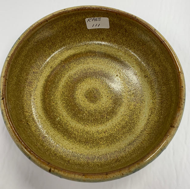 Pottery Bowl #111 - TOP VIEW