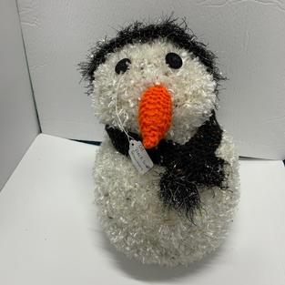 Snowman - Black Scarf