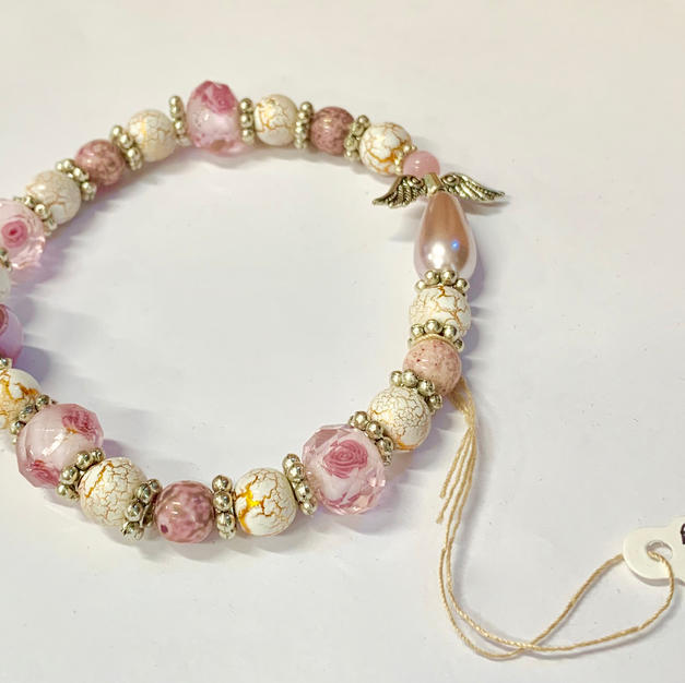 Angel Bracelet - Pink / Tiger Pink / Mottled Gold
