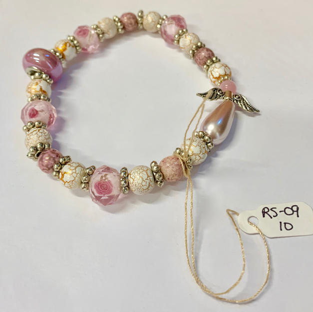 Angel Bracelet - Pink / Mottled Gold / Mottled Pink