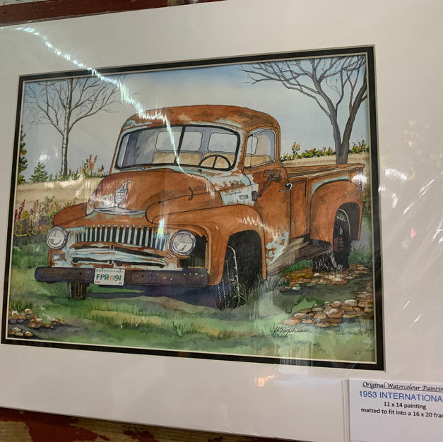 1953 International Truck - Original Watercolour (16x20)