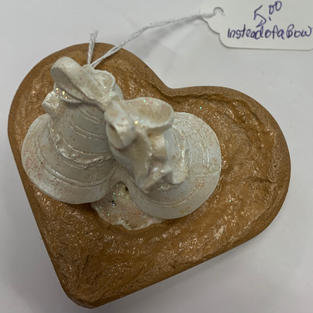 Wedding Bells Cement Cake Topper