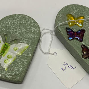 Close Up - Cement Butterfly Paper Weights