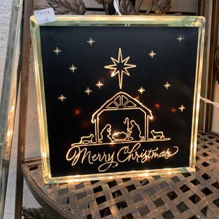 Glass Light - Merry Christmas