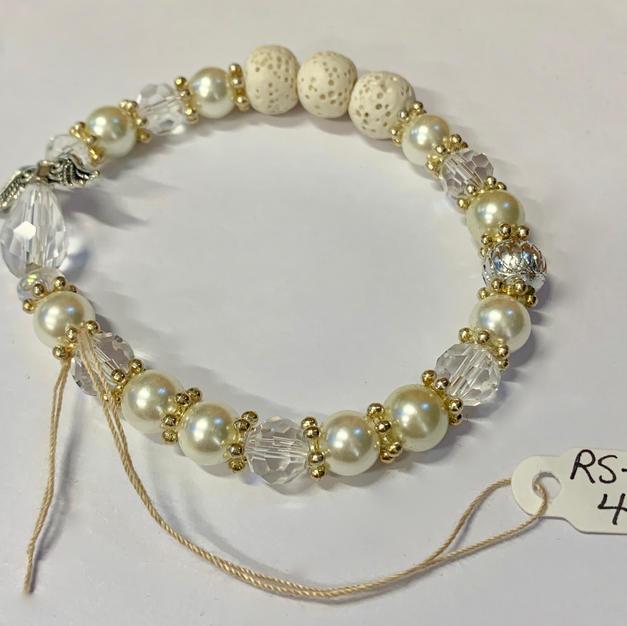 Angel Bracelet - Crystal / Pearl / Lava Bead