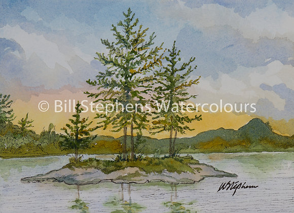 Original Watercolour Painting - Island on Georgian Bay