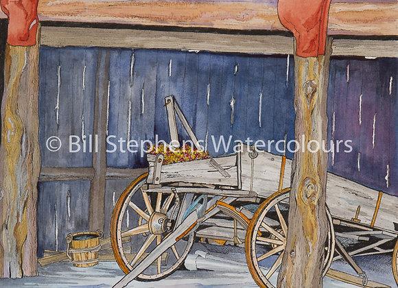 Original Watercolour Painting - Wagon in Santa Fe