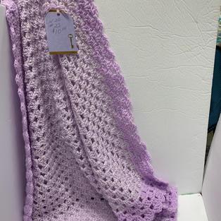 Afghan - Shimmery Purple - 30 x 30