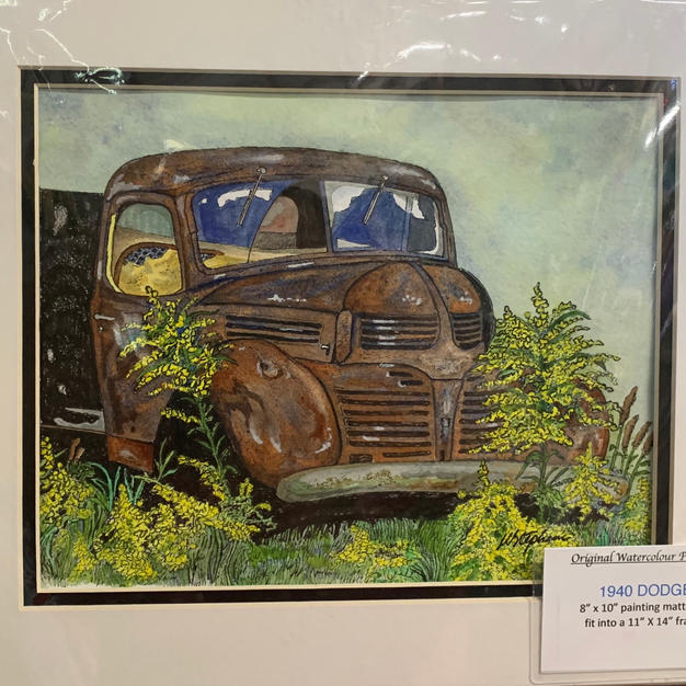 1940 Dodge Truck - Original Watercolour - (11x14)
