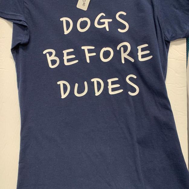 Dogs Before Dudes - Tshirt - Dark Blue L