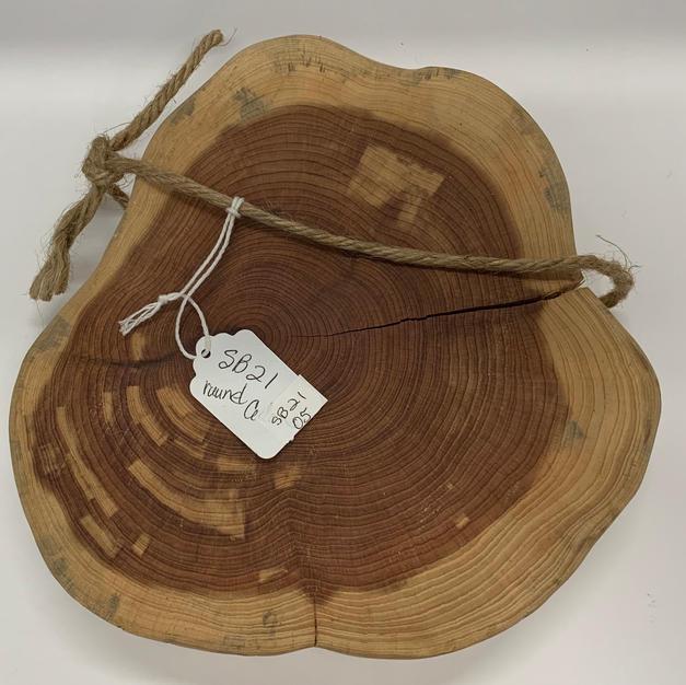 """Charcuterie Board - Small - 8"""" Round Cedar"""