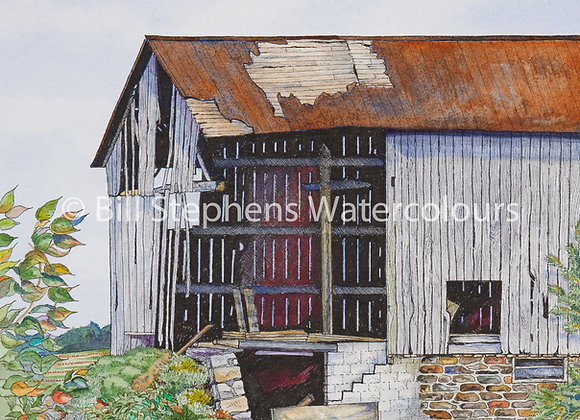 Original Watercolour Painting - Elgin Road at Catherine Street Barn